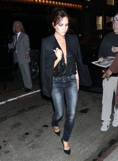Victoria Beckham Wearing Jeans | POPSUGAR Fashion