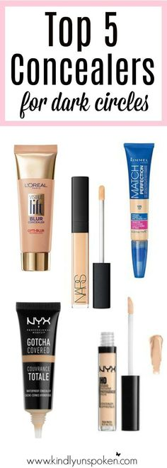 Today I'm sharing my top 5 under eye concealers to help cover up those pesky dark circles to help you look your best! I'm also sharing helpful setting tips!