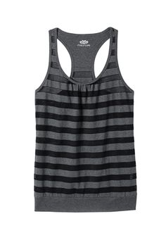 banded bottom mesh stripe tank (original price, $24) available at #Maurices