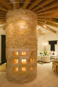 Freestanding Sandstone Fireplace