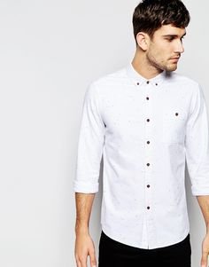ASOS Oxford Shirt In Long Sleeve With Neps