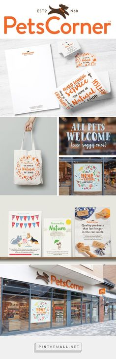 Brand New: New Logo and Identity for Pets Corner by Junction Design - created via https://pinthemall.net