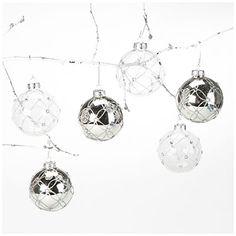 6-pack Jeweled Glass Ornaments 6dollars at Big Lots