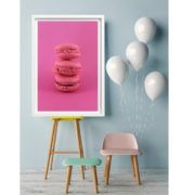 photographie couleur macarons framboise