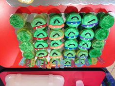 Teenage Mutant Ninja Turtles Cupcake Birthday Cake #jamester