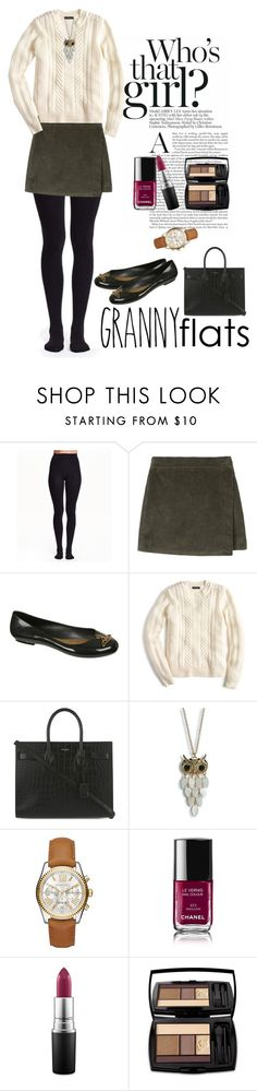 """""""Granny Flats"""" by lacehearts58 on Polyvore featuring Vivienne Westwood Anglomania + Melissa, J.Crew, Yves Saint Laurent, Aéropostale, Michael Kors, Chanel, MAC Cosmetics, Lancôme, women's clothing and women's fashion"""
