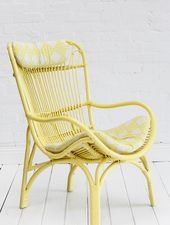 Rattan Slouch Chair Lemon