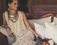 Handmade Crochet Wedding Dress LUNA MENGUANTE by IsaCatepillan
