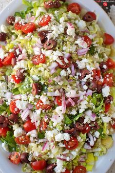 Chopped Greek Salad recipe. The BEST salad you will ever eat. MarlaMeridith.com ( @marlameridith )