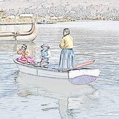 201309250207e02sqip2 - Between #floating #islands on lake #titicaca. #floatingvillage #holiday #travel #Puno #Peru #Uros
