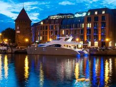 Two new motoryachts, SKYLARK and EWHALA, officially unveiled at Hilton Hotel in Gdansk - Sunreef Yachts Sunreef Yachts, Skylark, Power Boats, Catamaran, Big Trucks, Fast Cars, Vacation Spots, Transportation, Mansions