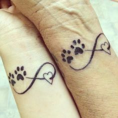 matching tattoos with mum, infinity love for eachother and our animals #tattoos #infinity