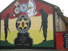 murals - off from Shankill Road, Belfast, Northern Ireland, 2014