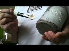 Sgraffito and Mishima by Mud Nymph Pottery - YouTube