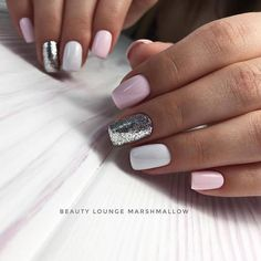 Make an original manicure for Valentine's Day - My Nails Gorgeous Nails, Love Nails, My Nails, Manicure E Pedicure, Cute Acrylic Nails, Trendy Nails, Nails Inspiration, Beauty Nails, Hair And Nails