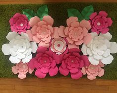 Items similar to Paper Flower Backdrop//Home Decor //Flower Wall //Wedding//Nursery // Birthday //Boutique Decor //Office Decor on Etsy