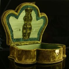 French 19th Century Velvet Clad Sewing or Jewellery Box