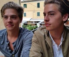 {Dylan and Cole Sprouse} Hey! We're the Sprouse bros!!! We were on Disney when we were younger if you remember. We are both 17 and single. Besides being twins, we also have a triplet, Lilo. We are all super close. Anyway, say hello!!!