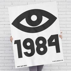 Designer: Print Liberation Design: 1984 - Raise Your Voice Purpose: Serve as a bedroom poster