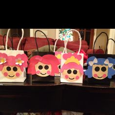 I made Lalaloopsy gift bags for my daughter's birthday party.