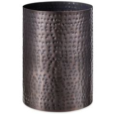 J Queen New York Oil Rubbed Bronze Pressed Metal Wastebasket ($35) ❤ liked on Polyvore featuring home, bed & bath, bath, bath accessories, oil rubbed bronze, metal waste basket, oil rubbed bronze bathroom accessories, oil rubbed bronze bath accessories, metal bathroom accessories and metal wastebasket