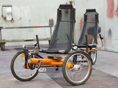 Nutcreatives | Triiki Bike A tricycle designed for tourist routes that can transport up to four people (2 adults and two kids, with the rear accessory).