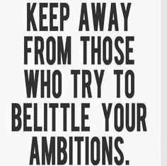 Ambitions ...