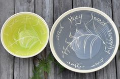 Great Color Combo Lime And Grey Quote Bowl