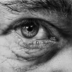 Realistic Portrait Drawing :~hyper realistic pencil drawings - Illustrator Armin Mersmann, able to create shimmer and shine hypnotic eyes, in conjunction with a wrinkled and freckled skin. He's working in the technique of hyperrealism. Realistic Pencil Drawings, Graphite Drawings, Amazing Drawings, Pencil Painting, Pencil Art, Painting & Drawing, Drawing Tips, Pencil Drawing Tutorials, Drawing Ideas
