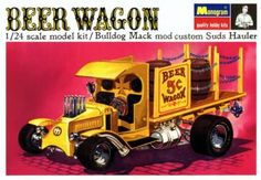 The idea for a Bulldog Mack truck hot rod beer wagon came from Roger Harney and Bob Reder of Monogram. Description from tomdaniel.com. I searched for this on bing.com/images