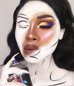 Amazing artistic make up for Halloween 🎃. Sfx Makeup, Costume Makeup, Makeup Art, Beauty Makeup, Makeup Pics, Skull Makeup, Hair Makeup, Makeup Goals, Makeup Inspo