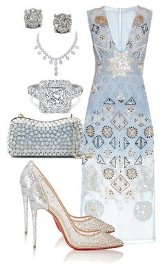 """Royal Ball"" by dolenka ❤ liked on Polyvore featuring Altuzarra, Christian Louboutin, Elie Saab and Effy Jewelry"