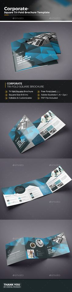 Square Tri Fold Brochure Tri Fold Brochure Brochures And Brochure