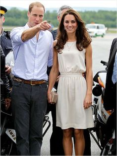 Little White DressThe Duchess of Cambridge looked summery and sophisticated in this Joseph dress while greeting fans outside Quebec's City Hall, where the couple attended a ceremony honoring Canada's Royal 22nd Regiment.Get her look for a fraction of the price with T Tahari's 'Julia' dress ($70.80 at dillards.com).Click here to see Kate Middleton's most stylish moments!Photo Credit: Landov (Courtesy: iVillage)                                     via @AOL_Lifestyle Read mo...