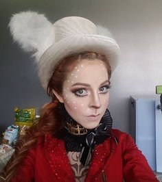 Am i playing dress up or is a new music video coming soon? Up Halloween, Halloween Makeup, Diy Costumes, Halloween Costumes, Costume Ideas, White Rabbit Makeup, Lindsey Stirling Style, White Rabbit Costumes, Couture Outfits