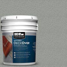 BEHR Premium Textured DeckOver 5-gal. #SC-149 Light Lead Wood and Concrete Coating