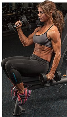 Killer Arms Makes A Good Physique Great. I don't have to have arms this size. Just defined. Bodybuilding Workouts, Bodybuilding Motivation, Female Bodybuilding, Gain Weight For Women, Weight Gain, Crossfit, Best Physique, Build Muscle, Muscle Building