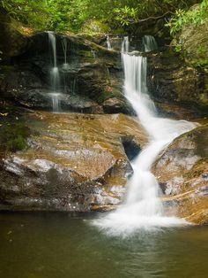 Falls on Whiteoak Creek - WNC Waterfalls