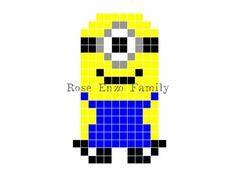 small+perler+bead+patterns   Minion perler bead pattern - RoseEnzoFamily