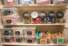 chalkboard labels for craft supply storage boxes