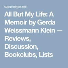 a description of gerda kleins experiences during the holocaust Holocaust survivor gerda klein, author, speaker, and humanitarian, is a  testament to  but their collective experiences during their early lives motivated  them to.