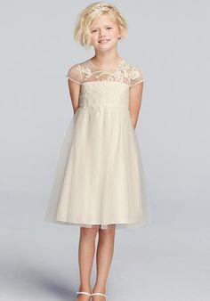 David's Bridal Juniors WG1360 Flower Girl Dress - The Knot