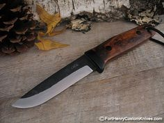 """WOW!  A full size 9"""" overall with stabilized Desert Ironwood handles and a 4 1/8"""" forged Aogami Super Steel blade from maker Hiroaki Ohta.  $295"""