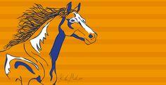 Broncos Horse - 2014 [digital drawing]  More Artwork on MederMade.wordpress.com - Portfolio: KendraMeder.wordpress.com