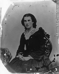 The gorgeous Mrs. James Frederick Denniston, Peterborough, ON, 1864, Silver salts on glass - Wet collodion process MP-1995.18.2 © McCord Museum
