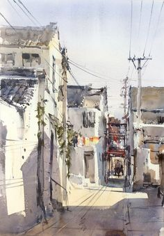 Direk Kingnok Watercolor artist Suzhou 1 36 x 50 cm