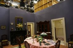 Dining room set for Miss Fisher's Murder Mysteries 2014.