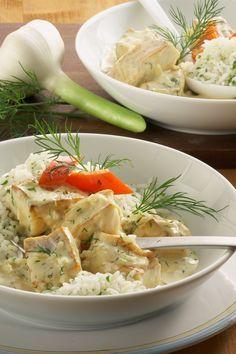 Feines Fischragout in Senfsoße Fish Recipes Healthy Tilapia, Easy Fish Recipes, Shrimp Recipes, Healthy Recipes, Weith Watchers, Pork Cooking Temperature, Vegan Junk Food, How To Cook Fish, Food Club