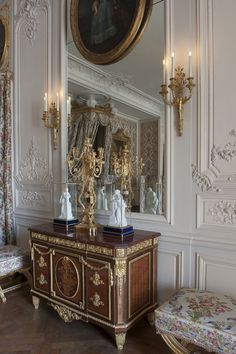 Château de Versailles Mesdames' Apartments, daughters of king Louis XV  Madame Adélaïde's bedroom.