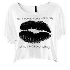 White True Love Lip Print Loose T-shirt ($23) ❤ liked on Polyvore featuring tops, t-shirts, shirts, white, loose shirts, loose white t shirt, lips shirt, loose fit t shirts and white short sleeve shirt